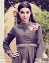 photo of Art Silk Casual Style Printed Gown Style Long Kurti In Grey