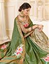 photo of Art Silk Fabric Casual Wear Printed Saree In Green