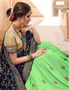 photo of Function Wear Sea Green Art Silk Designer Saree With Heavy Embroidery