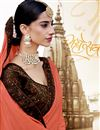 photo of Peach Color Party Wear Plain Fancy Saree With Lace Border