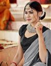 photo of Georgette Party Wear Plain Fancy Saree With Lace Border