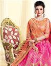photo of Rani Jacquard Silk Fabric Occasion Wear Lehenga Choli With Weaving Work