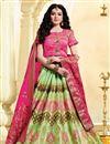 image of Occasion Wear Sea Green Weaving Work Lehenga In Jacquard Silk Fabric With Designer Blouse
