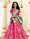 image of Weaving Work Rani Jacquard Silk Fabric Function Wear Lehenga Choli With Party Wear Blouse