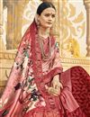 photo of Fancy Georgette And Net Fabric Festive Wear Pink Saree With Printed Work
