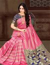 photo of Sangeet Wear Fancy Art Silk Saree In Pink With Weaving Work