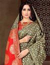 photo of Fancy Black Sangeet Wear Art Silk Saree With Weaving Work