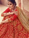 photo of Red Color Art Silk Fabric Festive Wear Embroidered Chaniya Choli With Beautiful Blouse