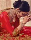 photo of Occasion Wear Red Color Embroidered Lehenga In Art Silk Fabric With Designer Blouse