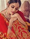 photo of Embroidered Occasion Wear Lehenga Choli In Red Color Art Silk Fabric