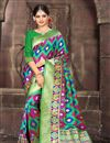 image of Function Wear Green Color Weaving Work Saree In Art Silk Fabric