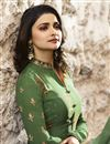 photo of Prachi Desai Green Casual Style Straight Cut Suit In Georgette