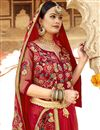 photo of Red Party Wear Designer Saree In Art Silk Fabric With Embroidery