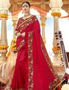 image of Red Party Wear Designer Saree In Art Silk Fabric With Embroidery