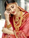 photo of Party Wear Designer Art Silk Embroidered Saree In Pink
