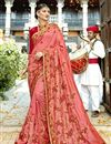 image of Party Wear Designer Art Silk Embroidered Saree In Pink