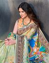 photo of Printed Multi Color Designer Saree In Art Silk Fabric