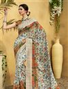 image of Fancy Art Silk Fabric Multi Color Daily Wear Printed Saree