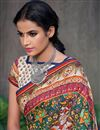 photo of Beige Color Art Silk Fabric Fancy Printed Saree With Blouse