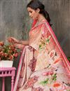 photo of Art Silk Fabric Printed Occasion Wear Pink Color Saree With Blouse