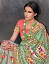 photo of Sea Green Color Art Silk Fabric Festive Wear Saree With Printed