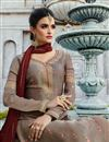 photo of Soothing Satin Georgette Fabric Designer Dark Beige Palazzo Salwar Kameez