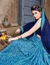 photo of Sky Blue Chiffon Fabric Fancy Printed Casual Wear Saree