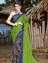 image of Multi Color Fancy Printed Casual Wear Saree In Chiffon Fabric