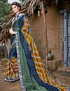 image of Chiffon Fabric Multi Color Fancy Printed Casual Wear Saree