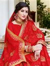 photo of Party Wear Red Embroidered Fancy Saree In Georgette