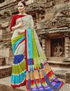image of Party Wear Multi Color Printed Fancy Saree In Art Silk