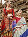photo of Art Silk Fancy Casual Party Wear Red Printed Saree