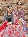 photo of Lavender Color Art Silk Fancy Festive Wear Printed Saree