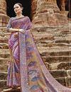 image of Lavender Color Art Silk Fancy Festive Wear Printed Saree