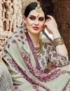 photo of Cream Fancy Casual Party Wear Art Silk Printed Saree