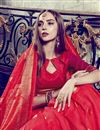 photo of Festive Wear Red Printed Fancy Saree In Art Silk