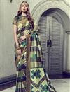 image of Festive Wear Art Silk Fancy Multi Color Saree With Print Work