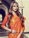photo of Orange Art Silk Fancy Festive Wear Printed Saree