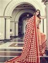 photo of Festive Wear Art Silk Printed Fancy Saree In Peach