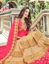photo of Pink Color Party Wear Saree In Georgette Fabric With Embroidery Work And Beautiful Blouse