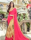 image of Pink Color Party Wear Saree In Georgette Fabric With Embroidery Work And Beautiful Blouse