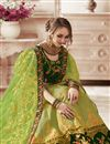 photo of Embroidered Occasion Wear Lehenga In Green Art Silk Fabric