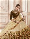 photo of Art Silk Fabric Designer Embroidered Lehenga Choli In Beige Color With Alluring Blouse