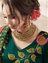 photo of Fawn Color Wedding Wear 3 Piece Lehenga In Art Silk Fabric With Embroidery Work
