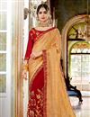 image of Alluring Traditional Art Silk And Georgette Fabric Party Wear Saree In Cream Color