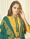 photo of Jacquard Fabric Yellow Festive Wear Designer Straight Cut Suit