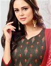 photo of Festive Wear Art Silk Dark Beige Straight Cut Fancy Salwar Suit With Printed Dupatta