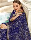 photo of Georgette Saree In Blue With Embroidery Work And Party Wear Blouse