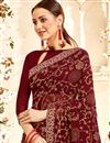 photo of Stunning Brown Traditional Georgette Fabric Saree For Function