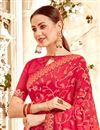 photo of Traditional Spectacular Pink Georgette Fabric Party Wear Saree